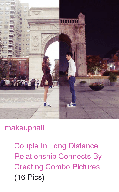 "Distance Relationship: <p><a class=""tumblr_blog"" href=""http://makeuphall.tumblr.com/post/133769453054"">makeuphall</a>:</p> <blockquote> <p><a href=""http://goo.gl/E3Yuj0"">Couple In Long Distance Relationship Connects By Creating Combo Pictures </a>(16 Pics)<br/></p> </blockquote>"