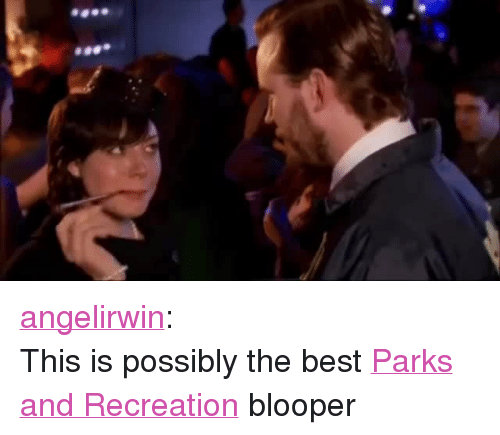 """Parks and Recreation: <p><a href=""""http://angelirwin.tumblr.com/post/120928921390/this-is-possibly-the-best-parks-and-recreation"""">angelirwin</a>:</p><p>This is possibly the best <a href=""""http://nbcparksandrec.tumblr.com/"""">Parks and Recreation</a> blooper</p>"""