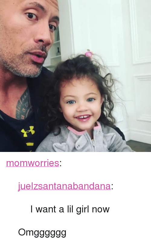 "Lil Girl: <p><a href=""http://momworries.tumblr.com/post/171713940459/juelzsantanabandana-i-want-a-lil-girl-now"" class=""tumblr_blog"">momworries</a>:</p><blockquote> <p><a href=""http://juelzsantanabandana.tumblr.com/post/171697937757/i-want-a-lil-girl-now"" class=""tumblr_blog"">juelzsantanabandana</a>:</p> <blockquote><p>I want a lil girl now</p></blockquote>  <p>Omgggggg</p> </blockquote>"