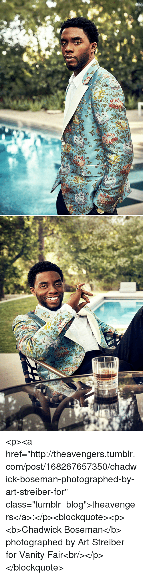 "Vanity: <p><a href=""http://theavengers.tumblr.com/post/168267657350/chadwick-boseman-photographed-by-art-streiber-for"" class=""tumblr_blog"">theavengers</a>:</p><blockquote><p><b>Chadwick Boseman</b> photographed by Art Streiber for Vanity Fair<br/></p></blockquote>"