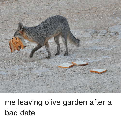 Bad Date: <p>me leaving olive garden after a bad date</p>