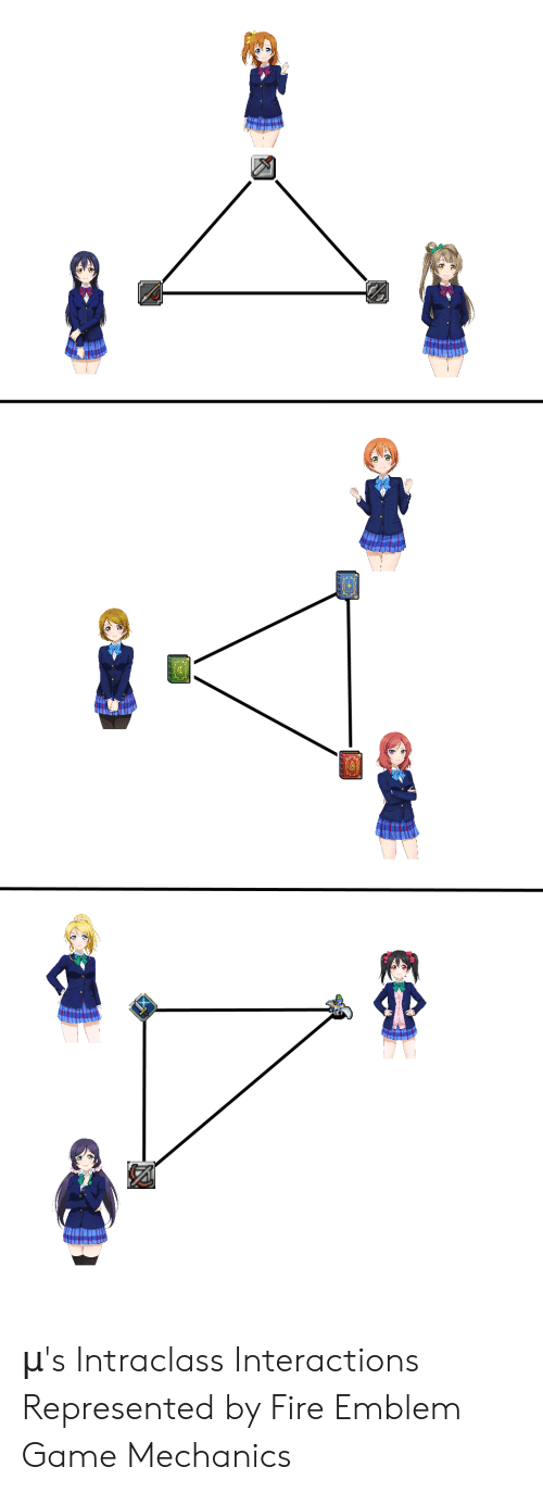 Fire, Game, and Fire Emblem: μ's Intraclass Interactions Represented by Fire Emblem Game Mechanics