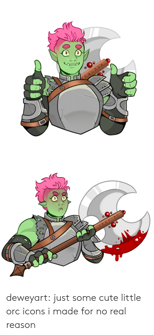 orc: оео deweyart:  just some cute little orc icons i made for no real reason