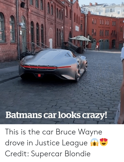Crazy, Justice, and Justice League: ו וו  tels4  Batmans car looks crazy! This is the car Bruce Wayne drove in Justice League 😱😍  Credit: Supercar Blondie