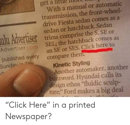 "newspaper: ""Click Here"" in a printed Newspaper?"