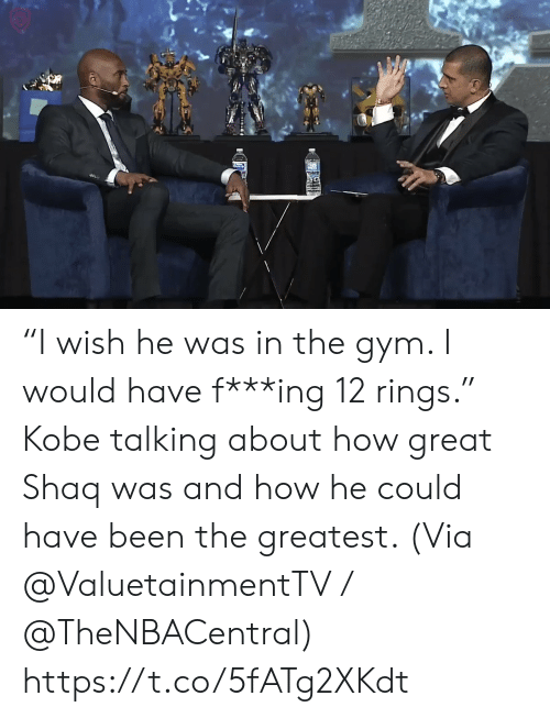 "Gym, Memes, and Shaq: ""I wish he was in the gym. I would have f***ing 12 rings.""   Kobe talking about how great Shaq was and how he could have been the greatest.    (Via @ValuetainmentTV / @TheNBACentral)   https://t.co/5fATg2XKdt"
