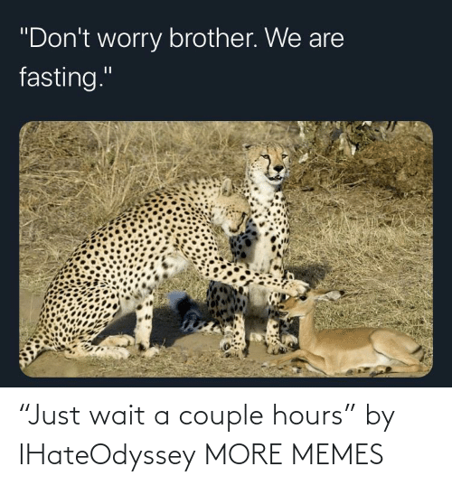 """couple: """"Just wait a couple hours"""" by IHateOdyssey MORE MEMES"""