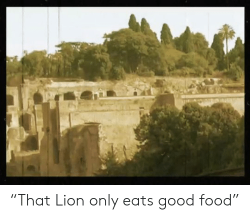 "Lion: ""That Lion only eats good food"""