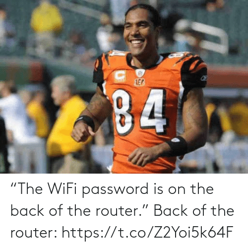 "NFL: ""The WiFi password is on the back of the router.""   Back of the router: https://t.co/Z2Yoi5k64F"