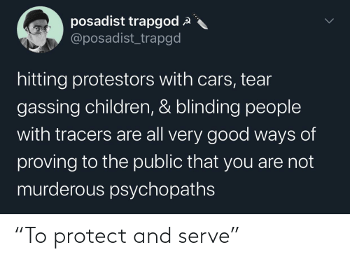"""Protect And Serve: """"To protect and serve"""""""