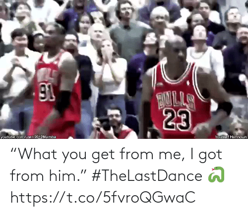 "You Get: ""What you get from me, I got from him.""   #TheLastDance 🐍  https://t.co/5fvroQGwaC"