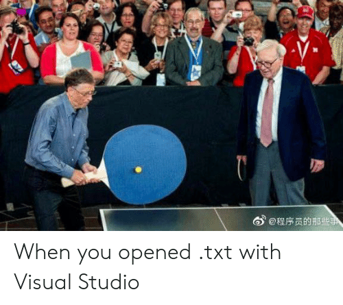 visual: @程序员的那些事 When you opened .txt with Visual Studio
