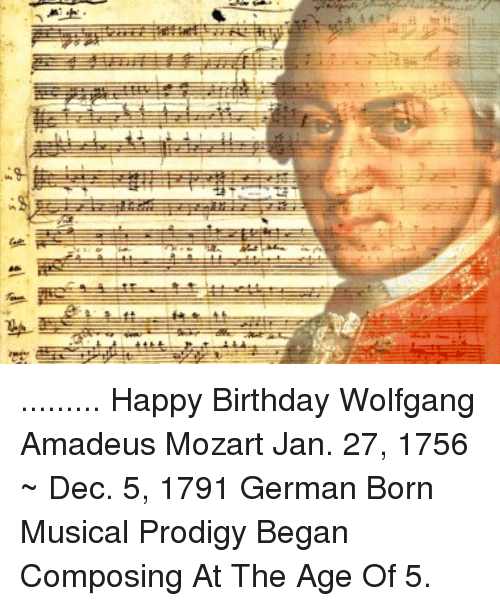 the biography of wolfgang amadeus mozart the musical prodigy Wolfgang amadeus mozart biography born: january 27, 1756 salzburg, austria died: december 5, 1791 vienna, austria austrian composer mozart was the most celebrated child prodigy (an unusually gifted child) of this time as a keyboard performer he also made a great impression as a.