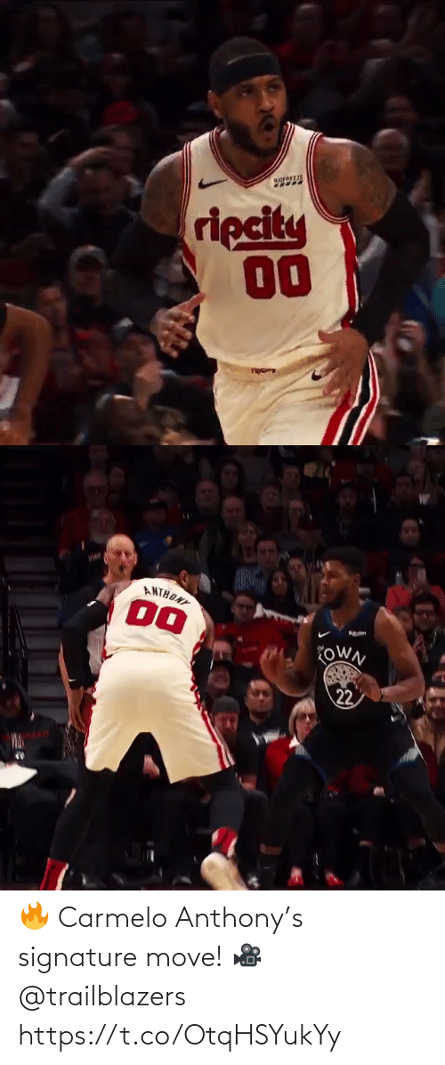 Anthony: 🔥 Carmelo Anthony's signature move!   🎥 @trailblazers   https://t.co/OtqHSYukYy