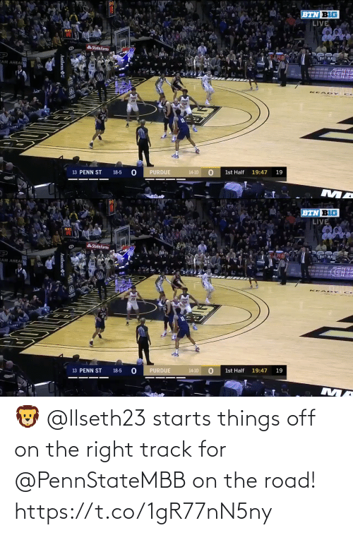 Right Track: 🦁 @llseth23 starts things off on the right track for @PennStateMBB on the road! https://t.co/1gR77nN5ny