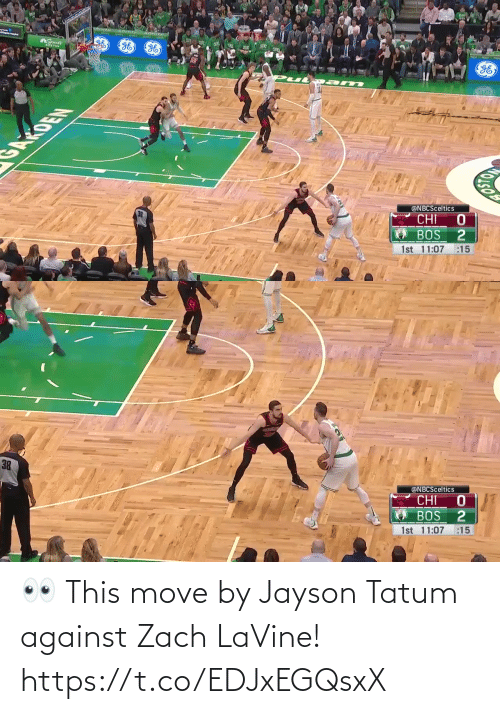 Against: 👀 This move by Jayson Tatum against Zach LaVine!   https://t.co/EDJxEGQsxX
