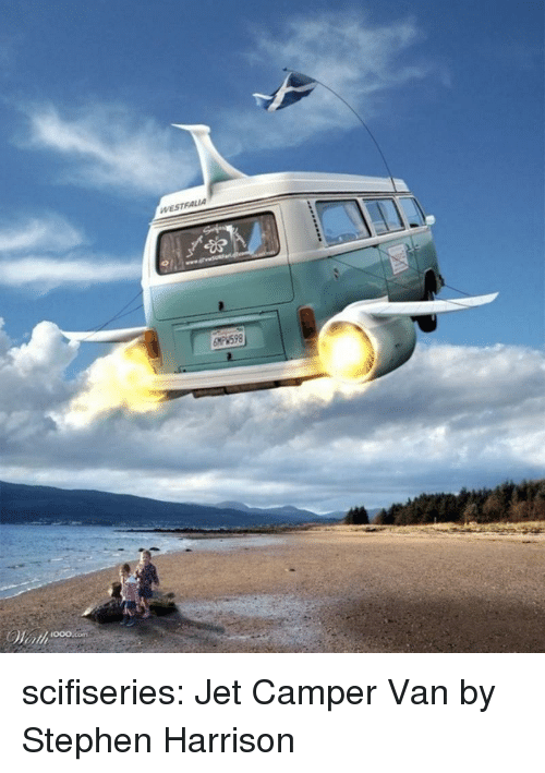 Stephen, Tumblr, and Blog: 000.com scifiseries:  Jet Camper Van by Stephen Harrison