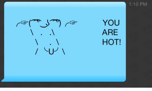 You Are Hot: 1:10 PM  YOU  ARE  HOT!