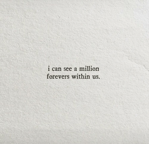 Can,  See, and Within: 1 can see a million  forevers within us