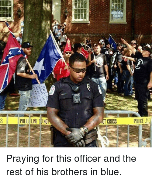 No T: 1 POLICII LINED NO  T CROSS  POLICE LIM <p>Praying for this officer and the rest of his brothers in blue.</p>