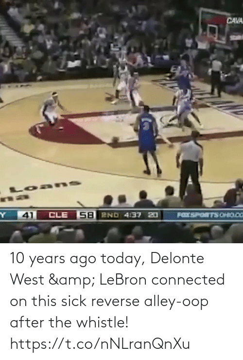 Sick: 10 years ago today, Delonte West & LeBron connected on this sick reverse alley-oop after the whistle!    https://t.co/nNLranQnXu