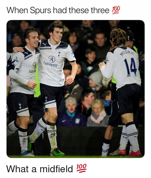 Odr: 100  When Spurs had these three  ODR  nomy What a midfield 💯