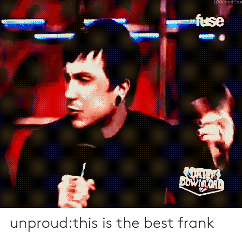 Tumblr, Best, and Blog: 1000bodies  fuse  DOWNLORD unproud:this is the best frank