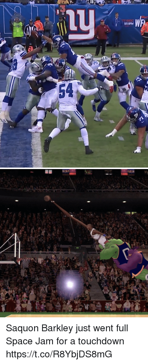 Space Jam: 1019FM  12  54 Saquon Barkley just went full Space Jam for a touchdown https://t.co/R8YbjDS8mG