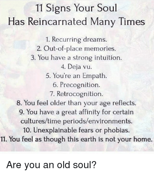 11 Signs Your Soul Has Reincarnated Many Times 1 Recurring Dreams 2