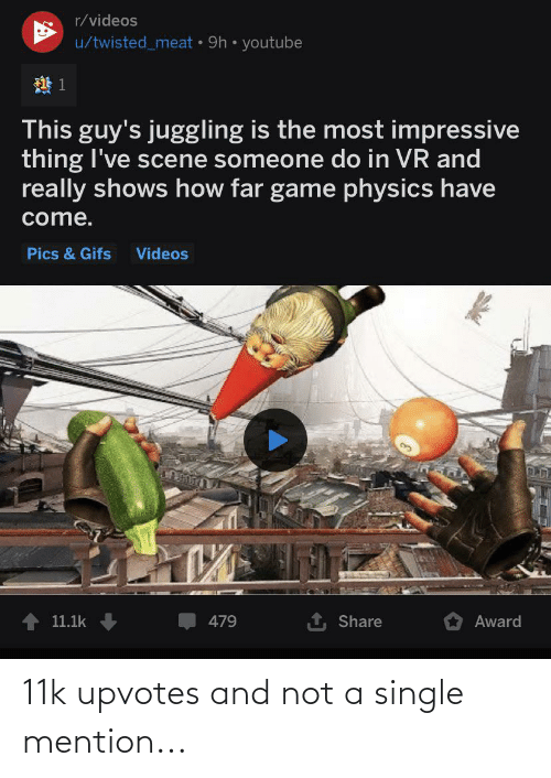 Upvotes: 11k upvotes and not a single mention...