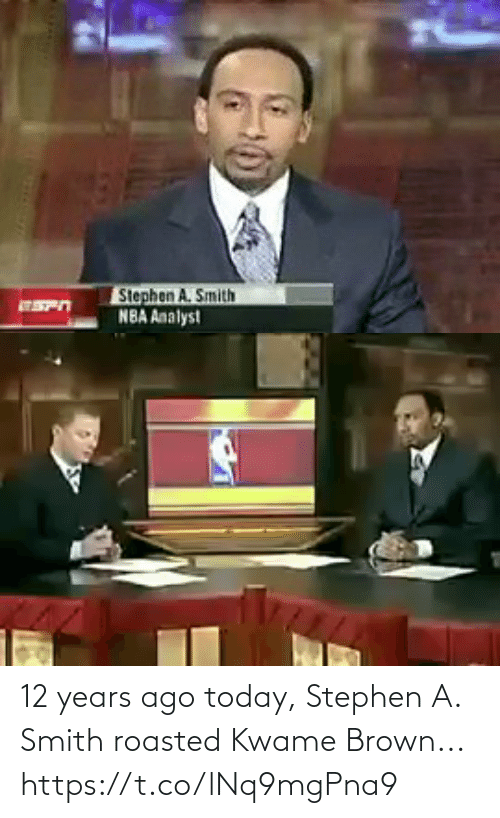 roasted: 12 years ago today, Stephen A. Smith roasted Kwame Brown... https://t.co/lNq9mgPna9