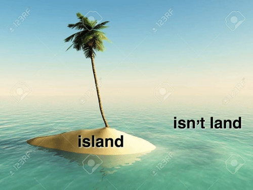 Memes, 🤖, and Island: 123/6  island  a123RF  isn't land  123RR  123RF  123RF  123RF
