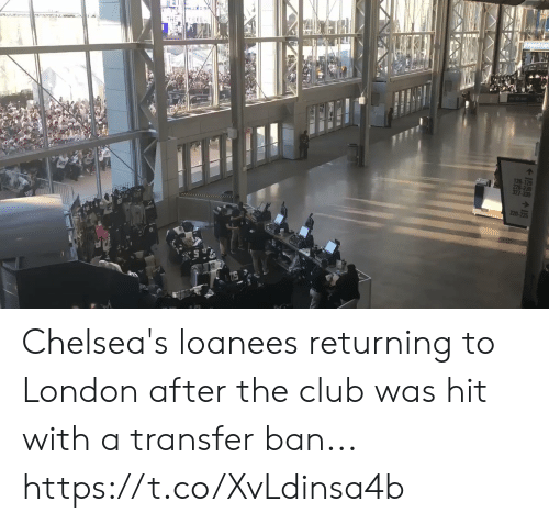 Club, Soccer, and London: 126-129  327-330  220-225 Chelsea's loanees returning to London after the club was hit with a transfer ban... https://t.co/XvLdinsa4b