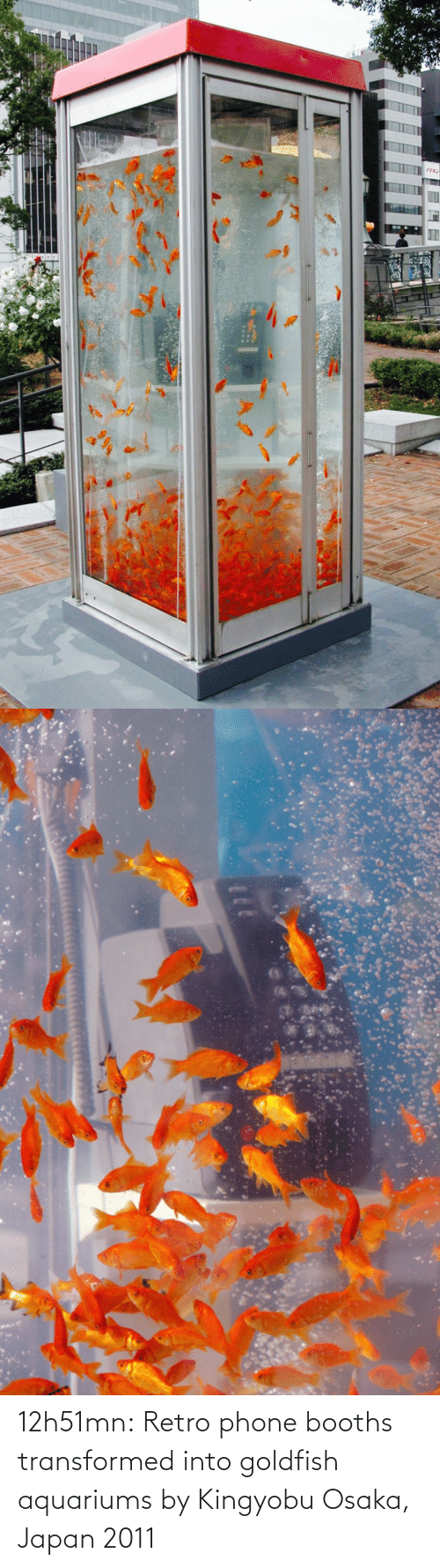 href: 12h51mn:  Retro phone booths transformed into goldfish aquariums by Kingyobu Osaka, Japan 2011