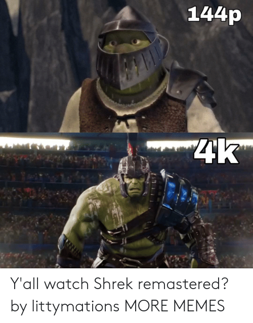 144P: 144p  4k Y'all watch Shrek remastered? by littymations MORE MEMES