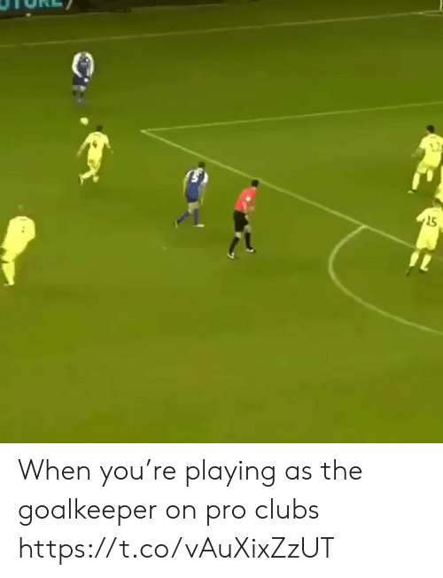 Soccer, Pro, and You: 15 When you're playing as the goalkeeper on pro clubs https://t.co/vAuXixZzUT
