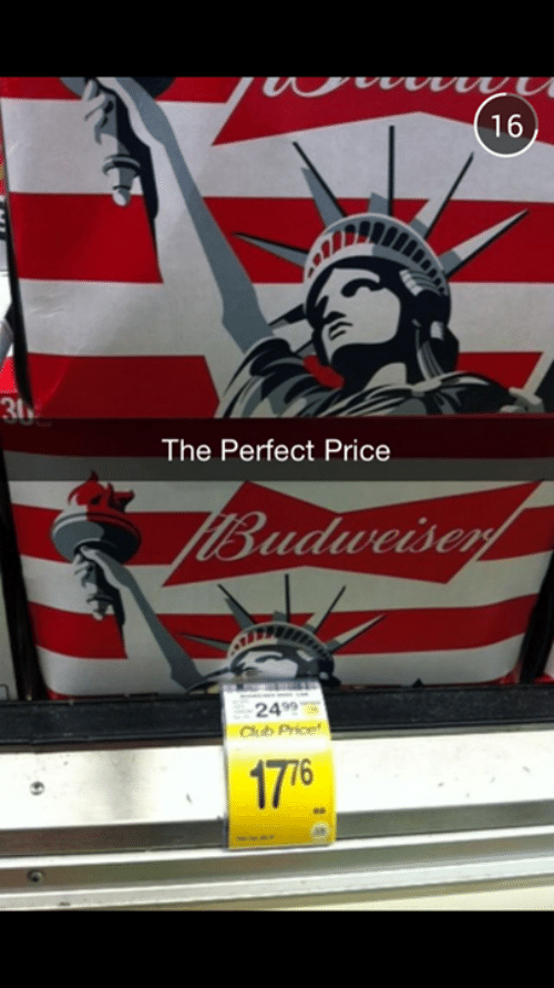 Dank, 🤖, and Budweiser: 16  31  The Perfect Price  Budweiser  2499  Chub Price  17 76