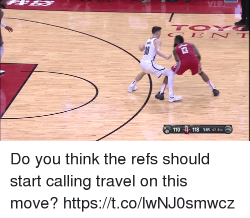 Andrew Bogut, Memes, and Travel: 18  110  6  118 3:05:07 4TH Do you think the refs should start calling travel on this move?  https://t.co/lwNJ0smwcz