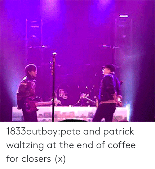 Closers: 1833outboy:pete and patrick waltzing at the end of coffee for closers (x)