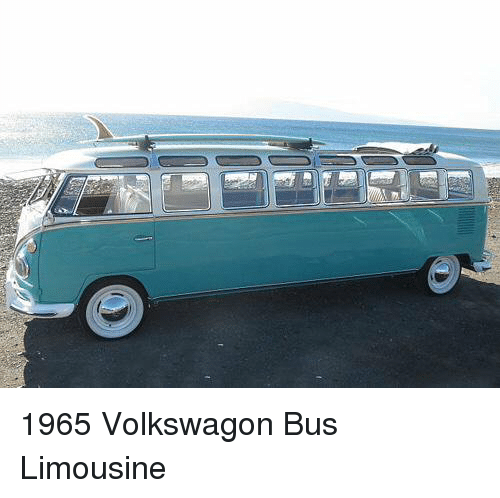 Memes, 🤖, and Volkswagon: 1965 Volkswagon Bus Limousine