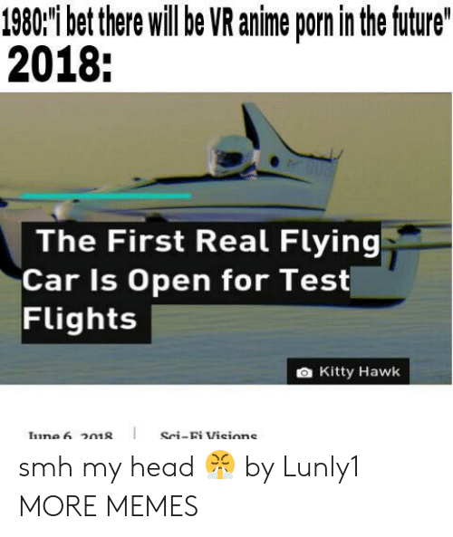 Hawkes: 1980'i bet there willbe VR anime porn in the ftuture  2018:  The First Real Flying  Car Is Open for Test  Flights  a Kitty Hawk  Sci-Bi Visions smh my head 😤 by Lunly1 MORE MEMES
