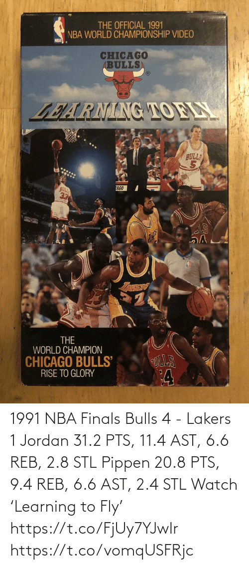 fly: 1991 NBA Finals Bulls 4 - Lakers 1   Jordan 31.2 PTS, 11.4 AST, 6.6 REB, 2.8 STL  Pippen 20.8 PTS, 9.4 REB, 6.6 AST, 2.4 STL  Watch 'Learning to Fly' https://t.co/FjUy7YJwIr https://t.co/vomqUSFRjc