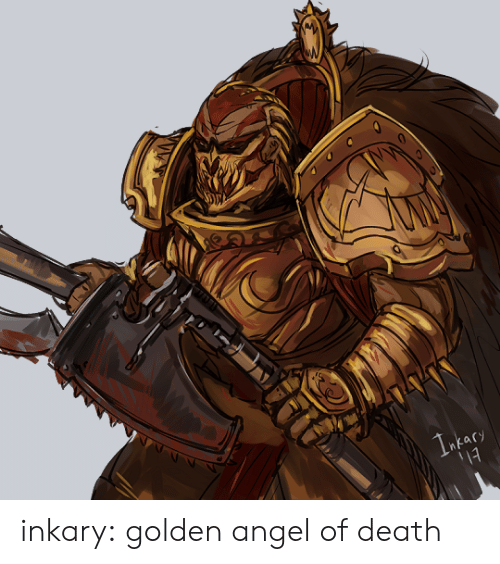 Tumblr, Angel, and Blog: 1acy inkary:  golden angel of death