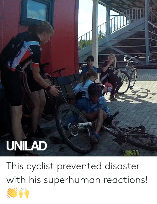 disaster: 1NC  MOON  UNILAD This cyclist prevented disaster with his superhuman reactions! 👏🙌
