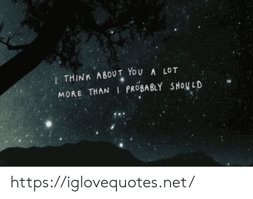 About You: 1THINK ABOUT YOU A LOT  MORE THAN I PROBABLY SHOU LD https://iglovequotes.net/