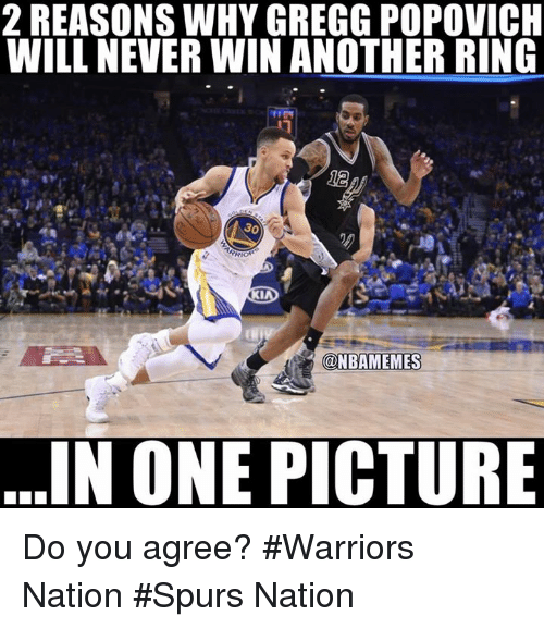 popovich: 2 REASONS WHY GREGG POPOVICH  WILL NEVERWIN ANOTHER RING  30  RIO  OKIA  (ONBAMEMES  IN ONE PICTURE Do you agree? #Warriors Nation #Spurs Nation