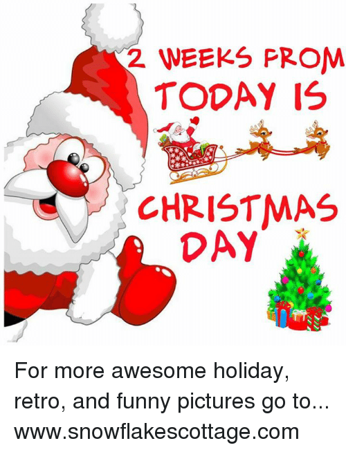 Funnies Pictures: 2 WEEKS PROM  TODAY IS  CHRISTMAS  DAY For more awesome holiday, retro, and funny pictures go to... www.snowflakescottage.com