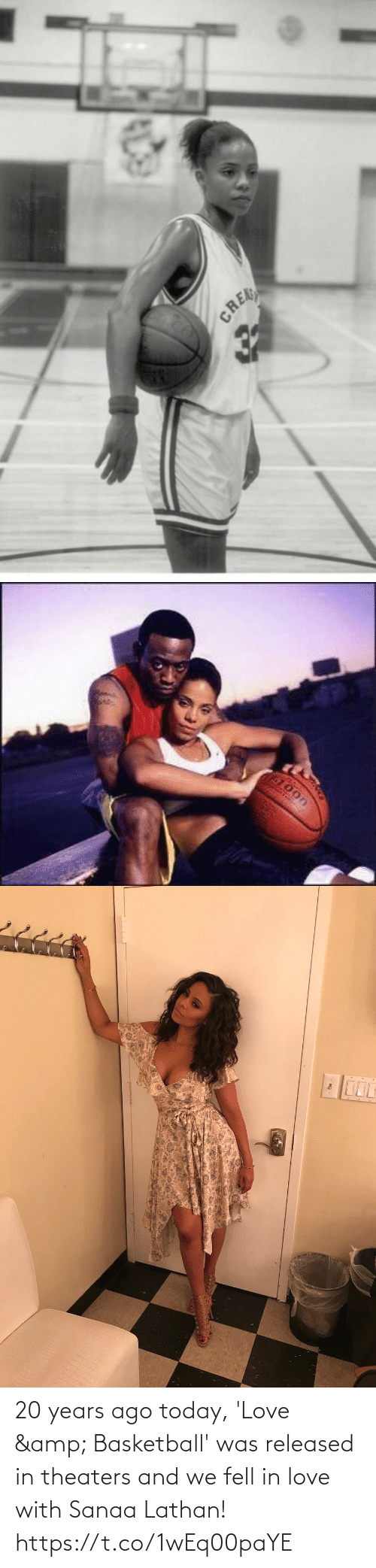 20 Years: 20 years ago today, 'Love & Basketball' was released in theaters and we fell in love with Sanaa Lathan! https://t.co/1wEq00paYE
