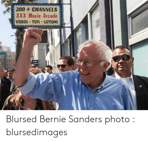 Bernie: 200+CHANNELS  XXX Movie Arcade  VIDEOS-TOYS LOTIONS  Soma  gets Blursed Bernie Sanders photo : blursedimages
