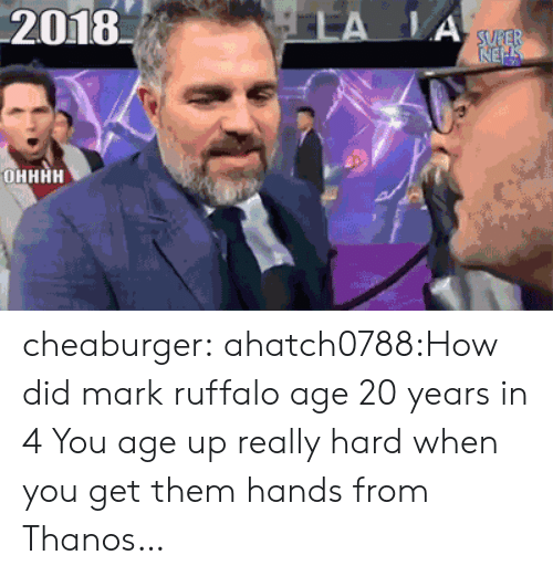 Mark Ruffalo: 201 cheaburger:  ahatch0788:How did mark ruffalo age 20 years in 4  You age up really hard when you get them hands from Thanos…